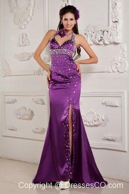 Evening Gowns Elegant Eggplant