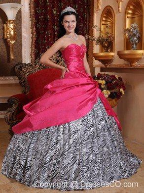 76e7a0ab44 Zebra Print Quinceanera Dresses