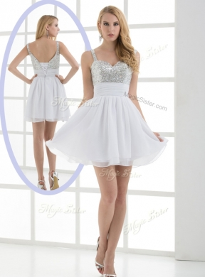 Fashionable Straps Sequins Short DamaDress for Graduation