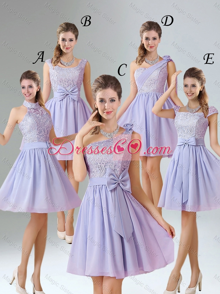 Spring A Line Mini Length Prom Dress in Lavender